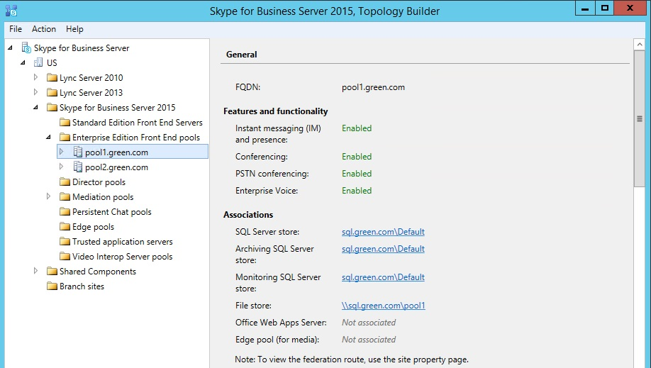 Skype for business 2015 – Recover user data from SQL backup